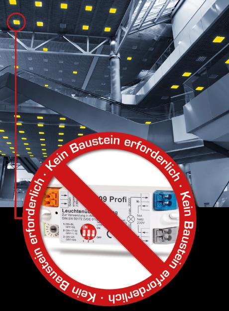 Sicherheitsbeleuchtung mit Einzelkennung ohne Baustein?