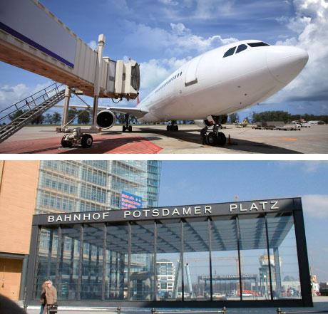 Bahnhöfe und Flughäfen